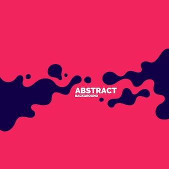 Poster met dynamische golven. vectorillustratie in minimale vlakke stijl
