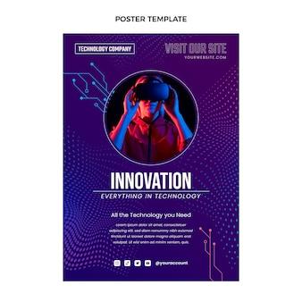 Poster met halftoontechnologie met gradiënt