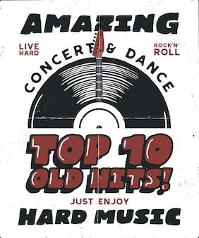 Poster met harde muziek.