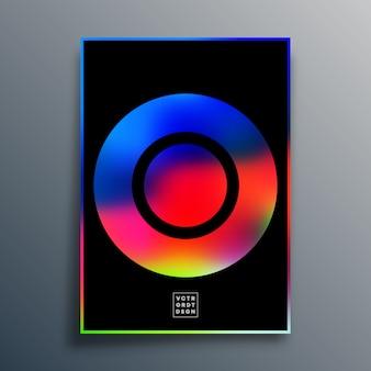 Poster met kleurrijke gradiënttextuurvorm voor behang, flyer, poster, brochureomslag, typografie of andere drukproducten.