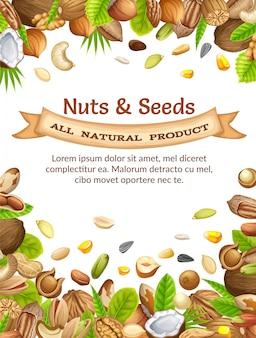 Poster met noten en zaden