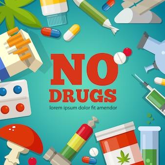 Poster met promotie van de gezondheid.