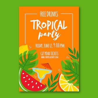 Poster met tropische partij concept