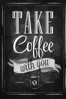Poster neemt koffie