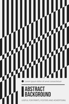 Poster ontwerpsjabloon met geometrische lijnen in zwart en wit stijl.