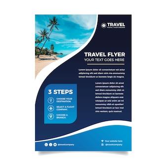 Poster sjabloon met foto thema reizen