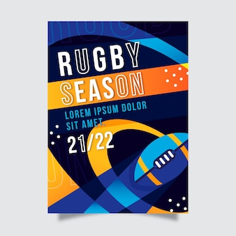 Poster sjabloon sportevenement