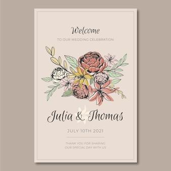Poster sjabloon voor bruiloft