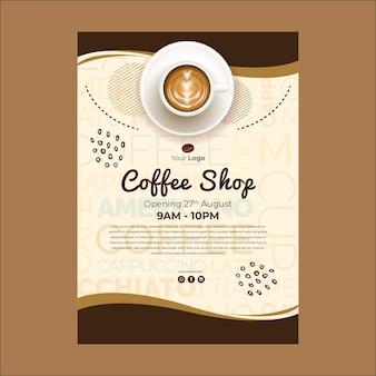 Poster sjabloon voor coffeeshop