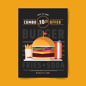 Poster sjabloon voor combo-maaltijden