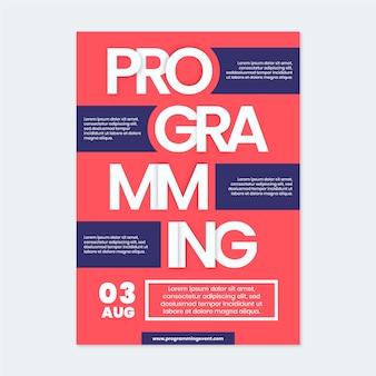 Poster sjabloon voor evenementenprogrammering