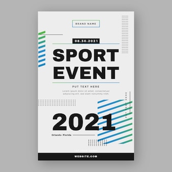 Poster sjabloon voor sportevenement