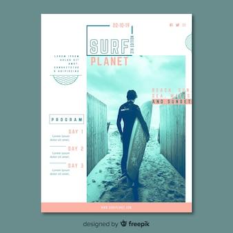 Poster sport sjabloon met afbeelding