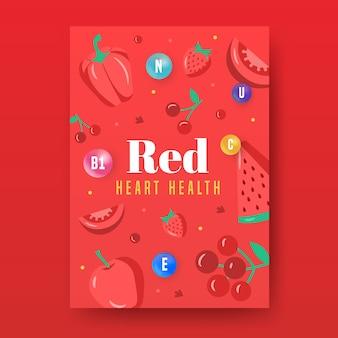 Poster stijl gezond eten