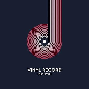 Poster van de vinylplaat
