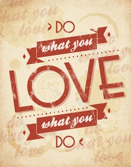 Poster van doen wat je graag
