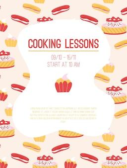Poster van kooklessen concept