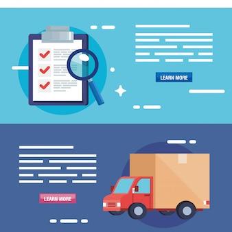 Poster van levering logistieke service instellen