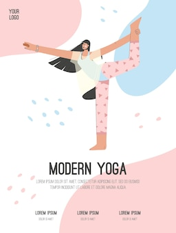 Poster van modern yoga concept