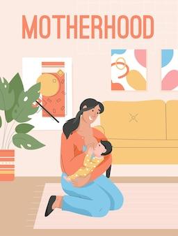 Poster van moederschap concept