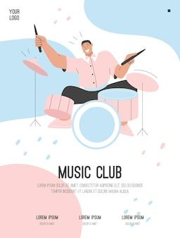 Poster van music club concept