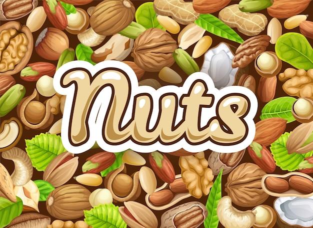 Poster van noten.