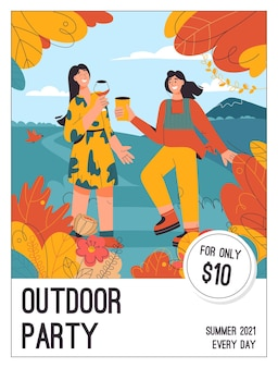 Poster van outdoor party concept
