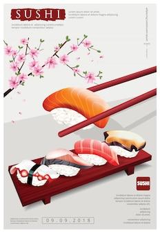 Poster van sushi restaurant vectorillustratie