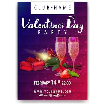 Poster van valentijnsdagfeest