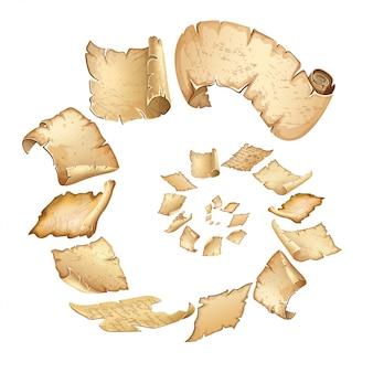 Poster van vliegende koninklijke oude perkamenten.