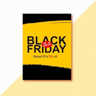 Poster voor zwarte vrijdag brochureontwerp