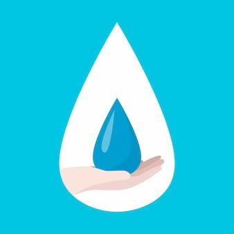 Poster wereld water dag, red de aarde. ecologie