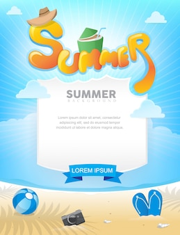 Poster zomer op het strand