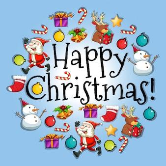 Posterontwerp met kerstthema