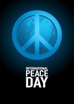 Posterontwerp voor internationale dag van de vrede