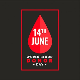 Posterontwerp voor internationale wereldbloeddonordag