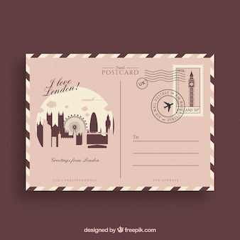 Postkaart in vintage stijl