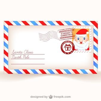 Postkaart naar santa claus vector