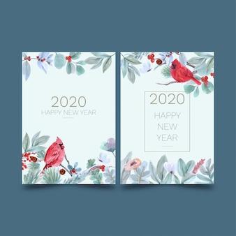 Postkaarten voor nieuwjaar