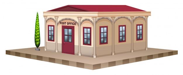 Postkantoor in 3d-ontwerp