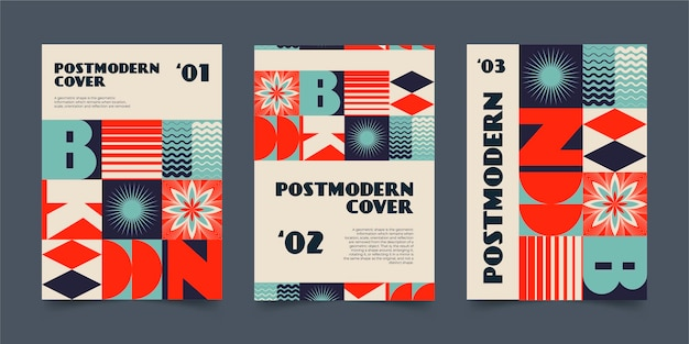Postmodern zakelijk omslagpakket
