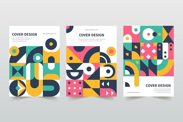 Postmoderne zakelijke gekleurde omslagen