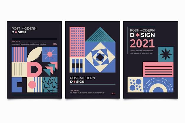 Postmoderne zakelijke omslagcollectie met geometrische vormen