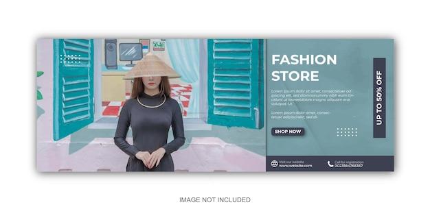 Postsjablonen voor sociale media voor minimalistische modezaken