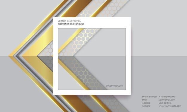 Postsjabloon met abstract achtergrond modern concept