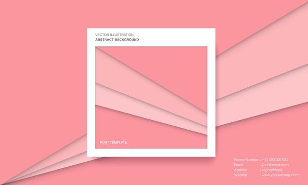 Postsjabloon met abstract kleurrijk modern concept als achtergrond