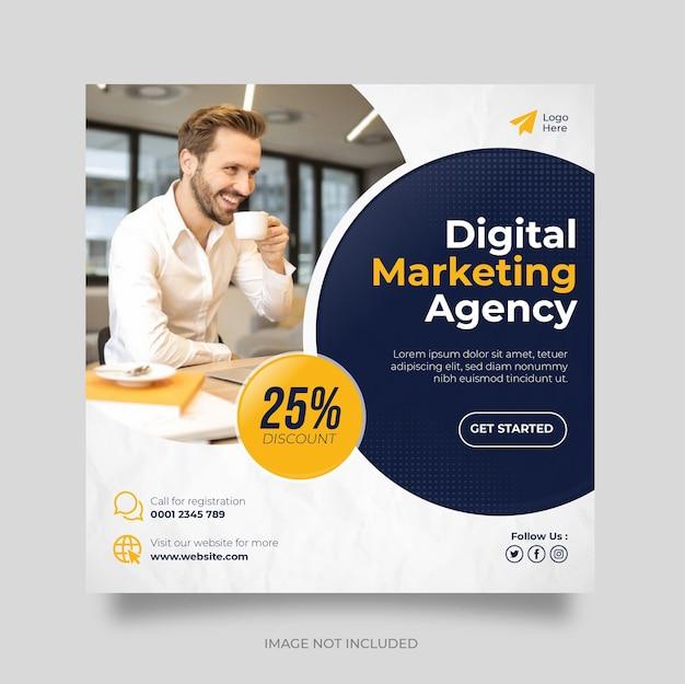 Postsjabloon voor digitale bedrijfsmarketing voor sociale media