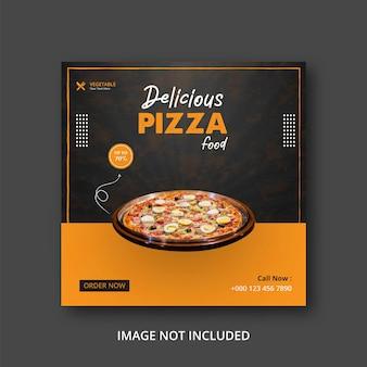Postsjabloon voor pizza eten sociale media