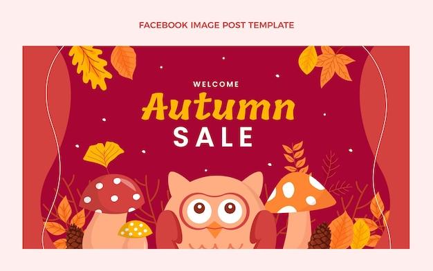 Postsjabloon voor sociale media in de herfst