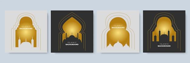 Postsjabloon voor sociale media met islamitisch decoratiethema. arabesque ramadan verkoop social media post sjabloon banners advertentie. bewerkbare vectorillustratie
